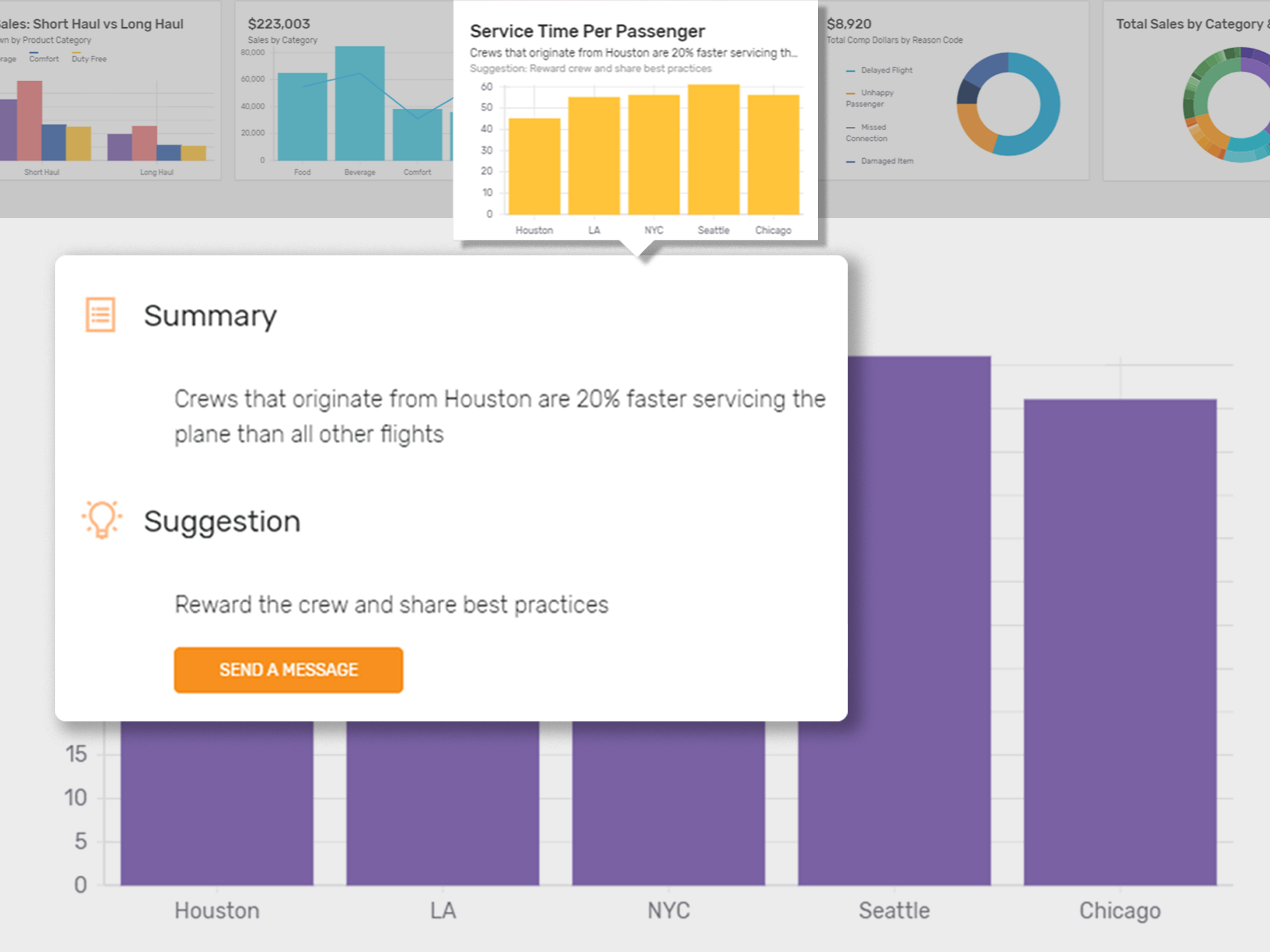 Gather actionable data on your passengers and flights